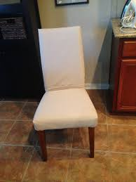 parson chair slipcover front