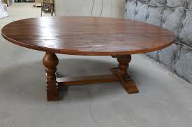 84 round dining table 84 inch round trestle table ecustomfinishes