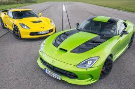 viper or corvette srt viper and chevy corvette z06 green car photography