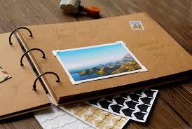 scrapbook binder 56 pages a4 ring binder photo album blank kraft photo