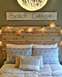 themed headboards theme guest bedroom with diy wood headboard wall and