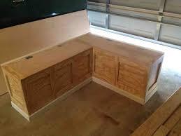 wood kitchen bench seating with storage making kitchen bench