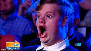 Jaw Drop Meme - australia s got talent audience member react in such shock