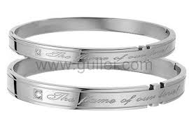 His And Hers Engraved Bracelets Custom Engravable His And Hers Couples Friendship Bracelets