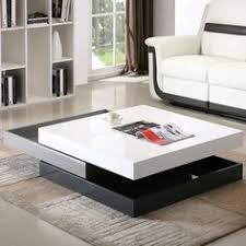 Modern Table For Living Room 5114c Modern White Lacquer Square Coffee Table Square Coffee