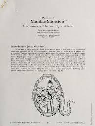Mansion Design by Grumpy Gamer Maniac Mansion Design Doc