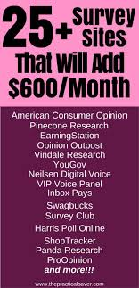 Money Making Online Surveys - the best paid online surveys 25 websites to add 600 month