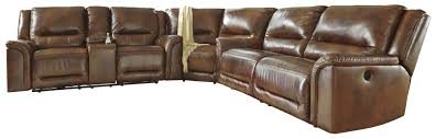 Furniture Wedge by Contemporary Leather Match Reclining Sectional With Wedge By