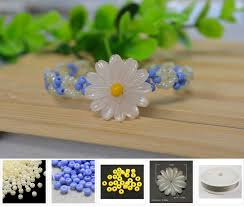 diy beaded flower bracelet images Diy a daisy beaded flower bracelet jewelry pendants jpg