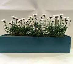 Long Planter Box by Long Window Box Style Handmade Metal Planter Wedgwood Blue Coated