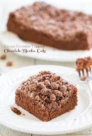 cocoa crumble topped chocolate mocha cake averie cooks