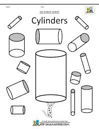 3d shapes kindergarten worksheets worksheets