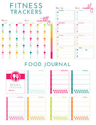 printable daily food intake journal printable fitness trackers and food journal the homes i have made