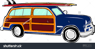 volkswagen van with surfboard clipart retro happy hippie vintage tropical surfboard stock vector