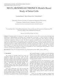 matlab simelectronics models based study of solar cells pdf