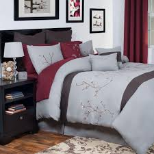 Red And Grey Comforter Sets Grace Gray Embroidered 14 Piece King Comforter Set 66 21 K The
