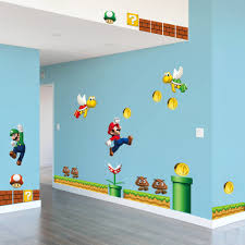 super mario bros large wall sticker vinyl art decal lovely kids unbranded