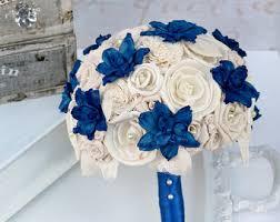 Royal Blue Wedding Blue Bridal Bouquet Etsy