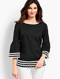 black and white blouses dress shirts blouses for talbots