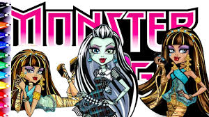 monster high cleo de nile and frankie coloring book pages fun for