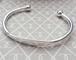 mens silver solid bracelet images Twisted mens bangle bracelet for him in solid sterling silver jpg