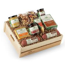 Cheese And Sausage Gift Baskets Simply Savory Deluxe Gift Crate Hickory Farms