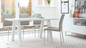 White Gloss Dining Table And Chairs Zen 6 Seater White Gloss Dining Table Oak Dining Table Trestle