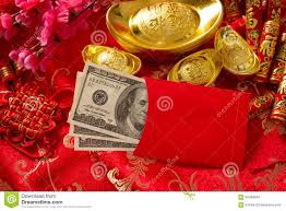 new year envelopes new year envelope with dollars inside stock photo
