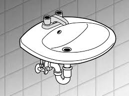 How To Measure For Kitchen Sink by How To Replace A Bathroom Sink 14 Steps With Pictures Wikihow