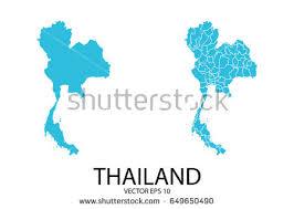thailand vector map set map blue map thailand stock vector 649650490