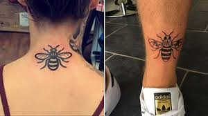 hundreds queue for bee tattoos in support of victims of manchester - Tattoos In
