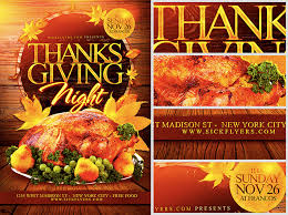 thanksgiving flyer template flyerheroes