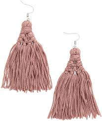 hm earrings h m earrings with tassels dusty pink where to buy how to wear