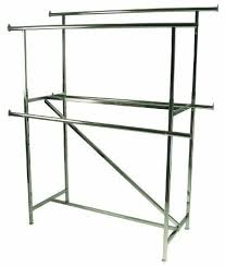 Add Rails For Double Bar Garment Rack Sided Throughout Clothes