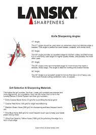 sharpening angle for kitchen knives lansky sharpeners sharpening angles grit selection
