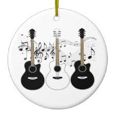 black guitar ornaments keepsake ornaments zazzle