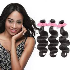 3 bundles body wavy virgin brazilian hair natural black