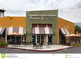 panera bread restaurant exterior editorial photography image