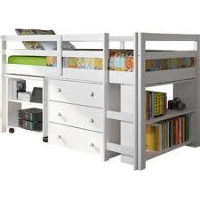 Captain Bed With Desk White Bunk U0026 Loft Beds You U0027ll Love Wayfair