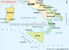 me a map map of southern italy southern italy map