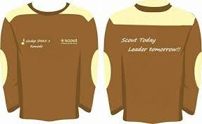 desain jaket warna coklat contoh desain kaos lapangan pramuka