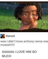 Anthony Meme - lilatveit wow i didn t know anthony ramos was moana aaaaaa
