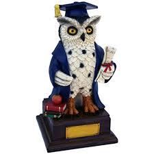 graduation owl graduation owl with name plate custom graduation