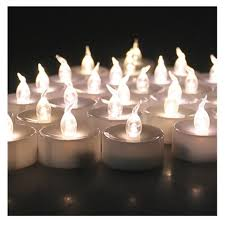 24pcs small plastic wholesale flameless candle with timer electric