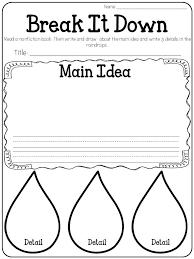 main topic and key details kindergarten freebie freebies