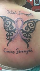 purple for epilepsy ribbon tattoos pictures to pin on pinterest