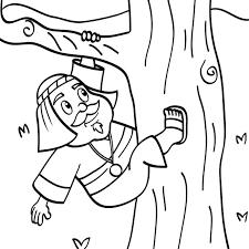 25 Zacchaeus Coloring Pages Coloringstar Zacchaeus Coloring Page