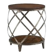 round wood and metal end table round metal end table home design