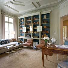 Traditional Home Suzanne Kasler For A Traditional Home Office With A Leather Chairs