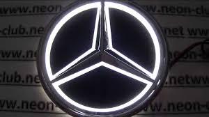 mercedes car emblem 5d car badge mercedes lights led logo sticker light